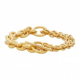 All Blues Gold Polished Double Bracelet 101603