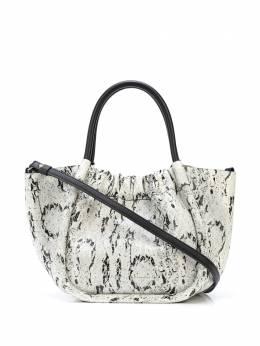 Proenza Schouler маленькая сумка-тоут со сборками и тиснением под кожу змеи H01015C504P