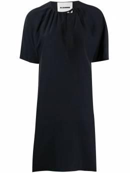 Jil Sander короткое платье с завязками на воротнике JSPQ561905WQ390800