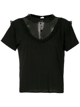 Andrea Bogosian блузка со вставками 008492