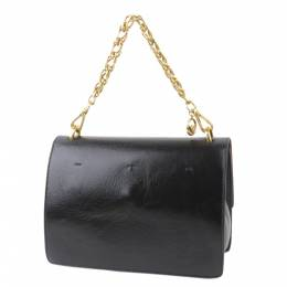 Fendi Black Leather Kan U Leather Shoulder Bag 294068