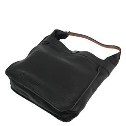 Hermes Black Clemence Leather Marwari PM Bag 294792