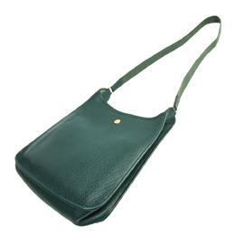 Hermes Green Buffalo Leather Vespa PM Shoulder Bag 294797