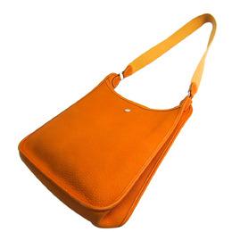 Hermes Light Brown Togo Leather Vespa PM Bag 294777