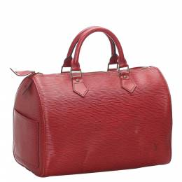 Louis Vuitton Red Epi Leather Speedy 30 Bag 280069