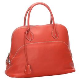 Hermes Orange Leather Bolide 35 Bag 281854