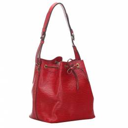 Louis Vuitton Red Epi Leather Petit Noe Bag 282029