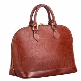 Louis Vuitton Brown Epi Leather Alma PM Bag 281562