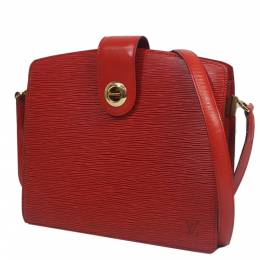 Louis Vuitton Red Epi Leather Capucine Bag 285052