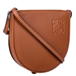 Loewe Brown Leather Mini Heel Saddle Bag 284903