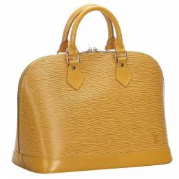 Louis Vuitton Yellow Epi Leather Alma PM Bag 280039