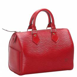 Louis Vuitton Red Epi Leather Speedy 25 Bag 276206