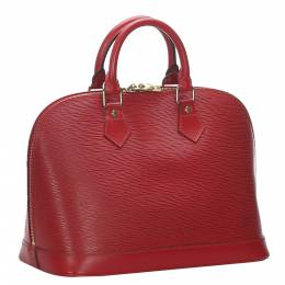Louis Vuitton Red Epi Leather Alma PM Bag 276093