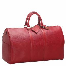 Louis Vuitton Red Epi Leather Keepall 45 Bag 276082