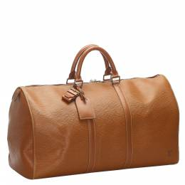 Louis Vuitton Brown Epi Leather Keepall 55 Bag 277926