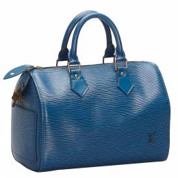 Louis Vuitton Blue Epi Leather Speedy 25 Bag 271950