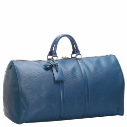 Louis Vuitton Blue Epi Leather Keepall 50 Bag 274022