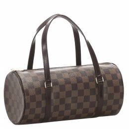 Louis Vuitton Damier Ebene Canvas Papillon 30 Bag 281674