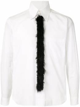 Comme Des Garcons Pre-Owned рубашка с галстуком из искусственного меха PFB035