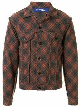 Junya Watanabe Comme Des Garcons Pre-Owned flannel trucker jacket WKJ060
