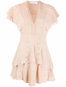 Iro платье с кружевом и оборками WM33PARONS