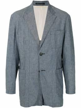 Yohji Yamamoto Pre-Owned двубортный пиджак со строчкой в тон HJJ61055