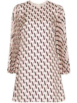 Valentino атласное платье мини с монограммой TB3VAR5053J