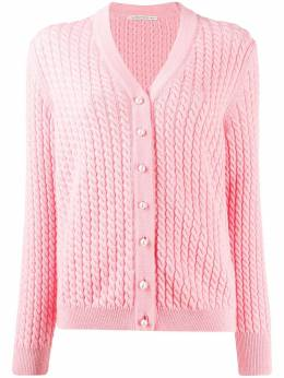 Alessandra Rich twisted rope detail cardigan FAB1904K2599