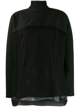 Valentino блузка с длинными рукавами и прозрачными вставками PB0AE2Q03Q3