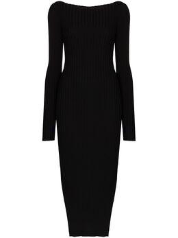 Toteme Orville ribbed-knit midi dress 203606755
