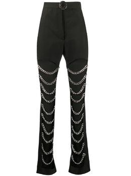 Loulou брюки с вырезами и цепочками SH2010045