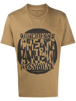 White Mountaineering футболка с графичным принтом WM2071505