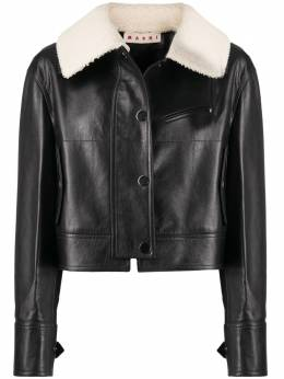 Marni shearling collar leather jacket JKMX0094QULV852