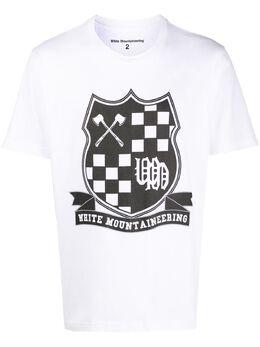 White Mountaineering футболка с круглым вырезом и принтом WM2071501