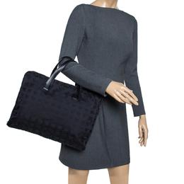 Chanel Black Nylon and Leather Travel Ligne Document Bag 295697