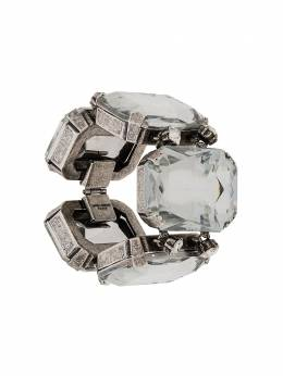 Saint Laurent oversized crystal-embellished bracelet 594255Y1526