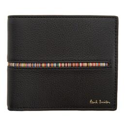 Paul Smith Black Stripe Insert Bifold Wallet M1A-4832-AINMST