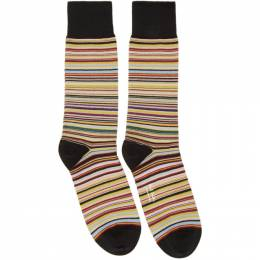 Paul Smith Three-Pack Multicolor Multi Stripe Socks M1A-SOCK-APACKM