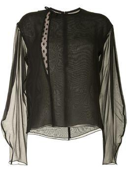 Giambattista Valli полупрозрачная блузка 20SSSVCA103430SGE9999