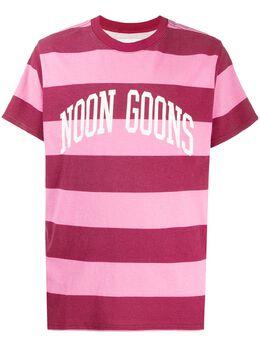 Noon Goons полосатая футболка с логотипом NGSS20TPNK