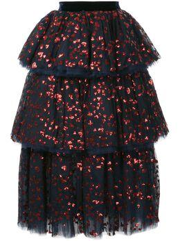 Macgraw ярусная юбка с отделкой пайетками LL044