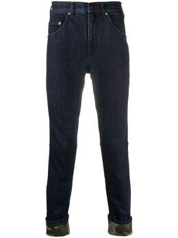 Neil Barrett джинсы скинни с камуфляжным принтом PBDE311SP807S