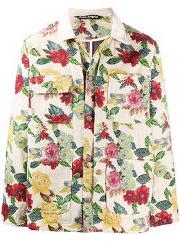 Palm Angels куртка с парчовым узором PMEA139E20FAB0016284