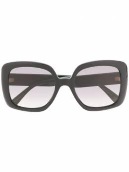 Gucci Eyewear солнцезащитные очки в массивной оправе с отделкой Web GG0713S006