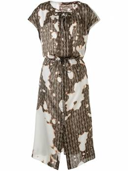 Maison Mihara Yasuhiro расклешенное платье миди с принтом тай-дай B04DR342