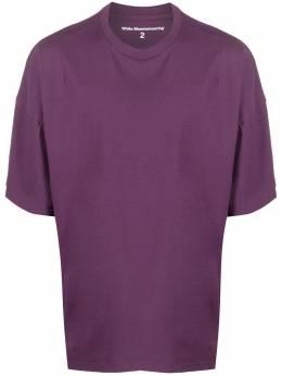 White Mountaineering футболка с приспущенными плечами WM2071521