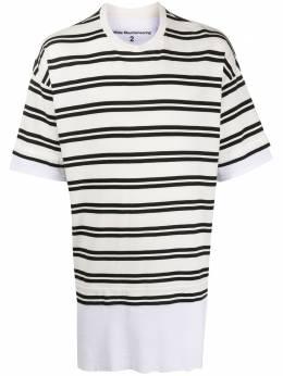 White Mountaineering многослойная футболка в полоску WM2071527