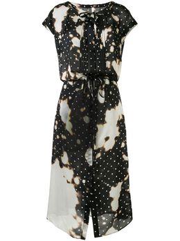Maison Mihara Yasuhiro платье макси с принтом тай-дай B04DR342