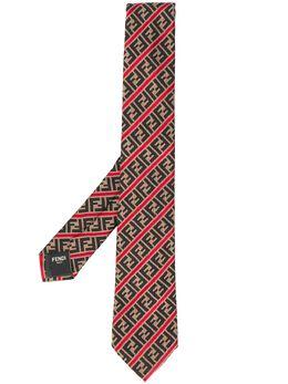 Fendi жаккардовый галстук с узором FF FXC023AAQX