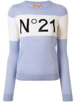 No. 21 block-stripe logo jumper 20EN2P0A0087011